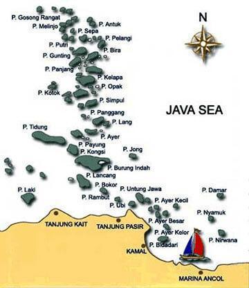 Pulau Seribu - Kepulauan Seribu Peta Lokasi