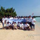 Peserta Outing Gathering di Pari Pulau Seribu